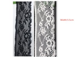 China 10yard Lot high quality Karl Mayer Warp Knitted Nylon Flower Pattern Fancy ivory white black lace trim For Dress scarf Sexy lingerie pajamas suppliers