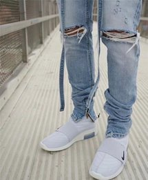 $enCountryForm.capitalKeyWord NZ - black fog street mens ripped jeans fashion jeans biker men Zipper Fly Distressed Moustache Effect