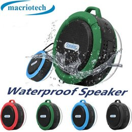 potable speakers Australia - C6 Speaker Bluetooth Speaker Mini Potable Wireless Audio Player Waterproof Speaker Hook And Suction Cup Stereo Music Player High Quality