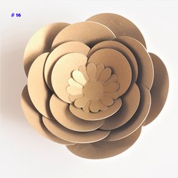 Video red online shopping - 2018 cm DIY Paper Flowers Rose For Wedding Event Decorations Backdrops Deco Baby Nursery Fashion Show Video Tutorials