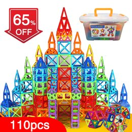 Block Toys Construction Australia - Qbw 110pcs Magnetic Blocks Magnetic Designer Building Construction Toys Set Magnet Educational Toys For Children Kids Gift Y190606