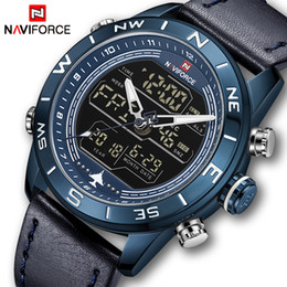 digital lcd watches men 2019 - NAVIFORCE Top Brand Mens Watches Men Fashion Sport Watches Male Waterproof Quartz Digital LCD Clock Mens Wristwatch chea