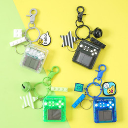 block people Canada - Multi Mini Tetris Games Player Key Chain Car Bag Pendant Bell Building Block Keyrings Arts And Crafts Gifts Home & Garden HA059