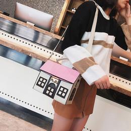 Funny cartoon bags online shopping - Design Pu Leather Funny Cute Cartoon House Handbag Women s Personality Handbag Ladies Shoulder Crossbody Messenger Bag Bolsa New
