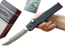 high quality tactical gear 2019 - High quality Micro HALOV5 VI Tanto Knife 150-4 auto Tactical knife Bounty Hunters UT85 Survival gear knives with kydex s