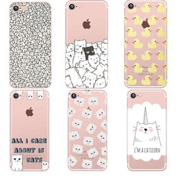 $enCountryForm.capitalKeyWord NZ - Phone Cases Animals Cats And Dogs Duck Clear Soft Silicon Tpu Fundas Cover For Iphone 7 6 6s 8 Plus 5s Se X Xr Xs Max