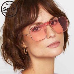 360488c9aa8 Sella New Arrival Brand Designer Men Women Fashion Square Sunglasses Retro  Vintage Punk Ocean Color Tint Lens Sun Glasses Oculos