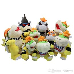 $enCountryForm.capitalKeyWord Australia - Pretty store Hot 2 colors ! Super Mario Bros Yellow Bowser Koopa And Gray Bones Koopa Plush Toy Soft Doll For Child Holiday Best Gifts 25cm