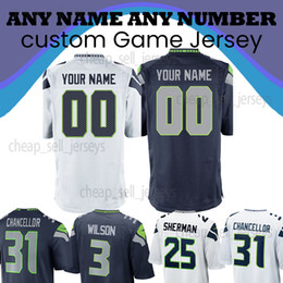 Fans 12 online shopping - Customized Jersey Seattle Russell Wilson Shaquem Griffin Fan Jersey Chancellor Sherman Rashaad Penny Thomas