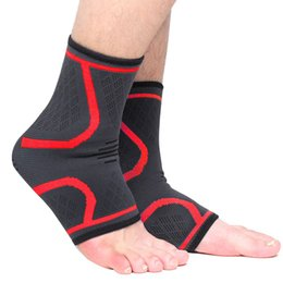 ankle support pad UK - 1 Pair Ankle Support Universal Printed Breathable Knitted Ankle Wrap Protective Wrap pad