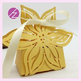 Pearl flower favor box online shopping - 50pcs Six Petal Flower Favor Holders Boxes Design With Lace Ribbon Flamboyance Celebrate A Festival Supplies