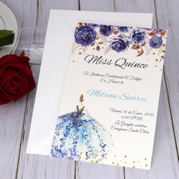 wholesale save date cards Canada - Wedding Invitation Set, DIY Customized Printing Editable Invites for Save the Date, Printable Sweet Fifteen Invitation Cards