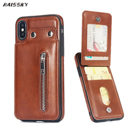 $enCountryForm.capitalKeyWord Australia - Vintage Leather Case For iPhone 6 6s 7 8 Plus X XR Case Card Zipper Wallet Stands Flip Cover For iPhone XS Max 6 6s Phone Case