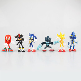 $enCountryForm.capitalKeyWord Australia - sonic hedgehog Boxed 6pc set Sonic the Hedgehog Boom Rare Dr Eggman Shadow PVC Action Figure Resin Collection Model Toy Doll Gifts Cosplay