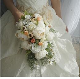 $enCountryForm.capitalKeyWord Australia - Wedding Bridal Bouquets Waterfall White Wedding Flowers Bridal Bouquets Artificial Pearls Crystal Wedding Bouquets Bouquet De Mariage Rose