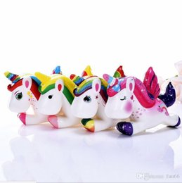 unicorn doll toy UK - Squishy Unicorn Horse Toys Slow Rising Lovely Unicorn Dolls Unicorn Squishy Toy Cartoon Depression Toys Party Props Flying Horse Dolls