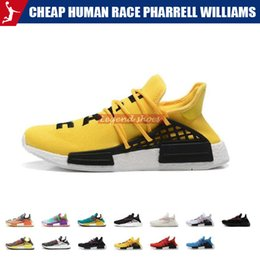 cheap orange men ties Australia - Cheap HUMAN RACE Pharrell Williams Mens Womens Mc Tie Dye Solar Pack Mother designer Fashion Sport Shoes With Box