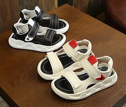 kids summer sandals boys 2019 - Summer Baby Boy And Girl Sport Sandals Leather Sandals Children Shoes Beach Shoes Fashion Footwear Kids Sandals Black+Be