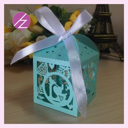 Laser Diamonds Australia - Custom ring diamonds bird Laser Cut pearl & metal Candy Chocolate Gift Boxes Bridal Birthday box with Ribbons wedding souvenirs