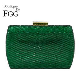 $enCountryForm.capitalKeyWord NZ - Boutique De Fgg Elegant Green Emerald Crystal Women Evening Handbags Metal Hard Case Wedding Party Dinner Diamond Clutch Bag Y190626