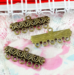 Brass Pendant Connector Australia - 50pcs 25*12MM copper antique bronze brass fashion connector charms for bracelet vintage metal pendants earring handmade DIY jewelry making