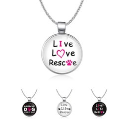 $enCountryForm.capitalKeyWord Australia - Infinity Love Animal Rights A Rescue Dog Stole My Heart Live Life Rescue Dog Mom Paw Print Necklaces For Women
