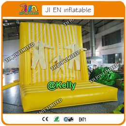 $enCountryForm.capitalKeyWord Australia - free air shipping yellow inflatable climbing wall sport game for kids, commercial pvc tarpaulin sticky rock climb body game