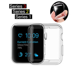 ultra slim smart watch NZ - Watch Cover for Apple Watch 3 Case 42mm 38mm Series 3 2 1 Soft Slim TPU All-around Ultra-thin Screen Protector for iWatch