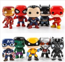 marvel heroes toys Canada - China Beauty FUNKO POP 10pcs set DC Justice action figures League & Marvel Avengers Super Hero Characters Model Vinyl Action & Toy Figures