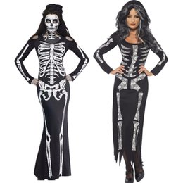 $enCountryForm.capitalKeyWord NZ - 2019 new halloween costumes for women new sexy dress with a skeleton pattern Halloween Costumes For Women Clubwear Sexy