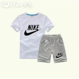 kids character ribbons UK - 2020 New Baby Boys And Girls Designer T-shirts And Shorts Suit Brand Tracksuits 2 Kids Clothing Set Hot Sell Fashion Summer Children's A8