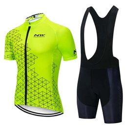 Wholesale 2019 Nw Team Cycling Short Sleeves Jersey Bib Shorts Sets Clothing Breathable Outdoor Mountain Bike Free Delivery U41201
