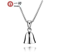 small silver bells Australia - S925 silver fashion all-match small fresh art bell short fashion accessories pendant necklace collar female