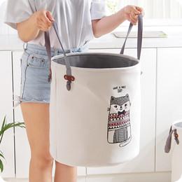 $enCountryForm.capitalKeyWord Australia - Eva Canvas Folding Basket Cartoon Barrel Standing Toy Storage Bucket Laundry Organizer Clothing Holder J190713