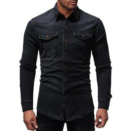 $enCountryForm.capitalKeyWord NZ - Brand 2019 Fashion Male Shirt Long-sleeves Tops Lined Lattices Mens Leisure Training Cowboy Mens Dress Shirts Slim Men Shirt