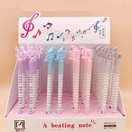 $enCountryForm.capitalKeyWord Australia - 48 pcs lot Music symbol Gel Pen Cute Silicone 0.5mm Black Ink signature pen School writing Supplies Stationery gift