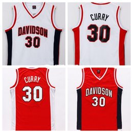 Cheap custom  30 Davidson Jersey College Basketball Stephen Curry Swingman  White Red Stitch customize any number name MEN WOMEN YOUTH XS-5XL ed4ec300a