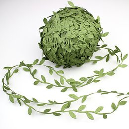 Leaf vine online shopping - New Design m Artificial Green Flowers Leaves Rattan DIY Garland wreaths Accessory For Home Decoration