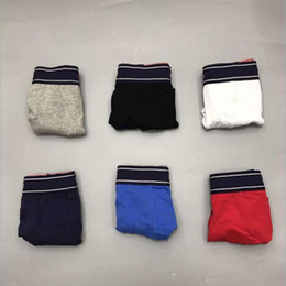 Wholesale black boxers for sale - Group buy 5pcs Mens Underwear Boxers Cotton Underwear Sexy Man Panties Comfortable Breathable Gay Underpants Male Boxer Soft Undershorts