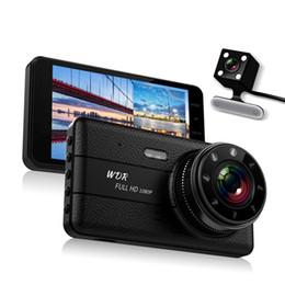 Dvr Channel Cameras Australia - 2 Channels car DVR auto registrator camera driving digital recorder 4 inches screen full HD 1080P 170° wide view angle night vision