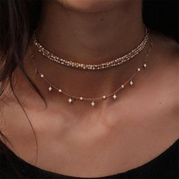 $enCountryForm.capitalKeyWord Australia - 1Pcs Women's Fashion Vintage Jewelry Multi Layers Star Beads Necklace Clavicle Chains Charm Statement Necklace Steampunk