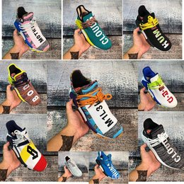 square floor lights Australia - 2019NMD casual shoes Pharrell Williams Trail Orion Nobel ink black designer sports shoes men and women