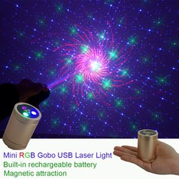 $enCountryForm.capitalKeyWord Australia - Sharelife Mini Portable RGB Gobos Laser USB Light Built-in 1200MA Battery Magnetic Attraction for Home Party DJ Gig Stage Lighting DP4-RGB