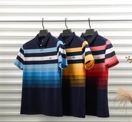 $enCountryForm.capitalKeyWord Australia - Designer Polo Cotton High Quality Color Rainbow Printing Breathable Men's Polo Luxury Casual Mens Designer T Shirts Asian Plus Size M-3XL