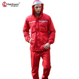 $enCountryForm.capitalKeyWord NZ - Rainfreem Impermeable Raincoat Women Men Hood Rain Poncho Waterproof Rain Jacket Pants Suit Rainwear Men Motorcycle Gear #219873