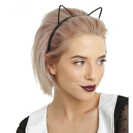 $enCountryForm.capitalKeyWord NZ - Kids Black Cat Ears Head Bands Fashion Lady Girl Hairband Self Headband Baby Birthday Party Hair Accessories For Women Hoop
