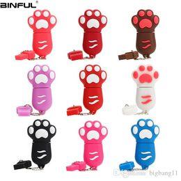 $enCountryForm.capitalKeyWord Australia - Promotion Usb Flash Drive 64GB Cute Cartoon Cat Paw Pen Drive 4G 8GB 16GB 32GB 64GB Usb Stick High Speed Pendrive High Quality Thumbdrives
