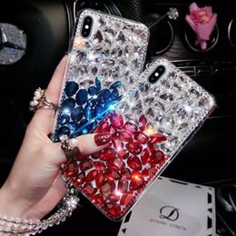 Fox Fur Iphone Case Australia - Luxury Bling Mix Color Crystal Diamond Case Cover Without Fox Fur Ball Pendant For Iphone XS Max XR X 8 7 6 6S Plus