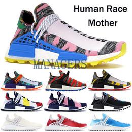Spike Pack Australia - TOP Quality NMD Human Race Running Shoes Solar Pack BBC NERD Pharrell Williams Men Women Nobel ink Oreo Designer Sneakers With Box