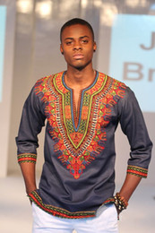 nigerian clothes NZ - african men clothes roupa africana dashiki men africa african t-shirts for men nigerian traditional print clothing